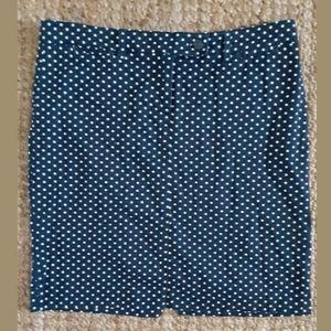 Jones New York Polka Dot Pencil Skirt
